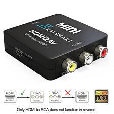 HDMI to RCA Converter Composite AV Kit 1080P HDMI to 3RCA AV Converter