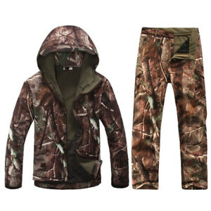 Outdoor Tactical Camouflage Hunting Clothing TAD Gear Jacket Pants Ghillie Suit