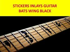 STICKER INLAY BATS WING BLACK FRET MARKERS VISIT OUR STORE WITH MANY MORE MODELS