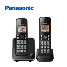 Panasonic KX-TGC352B Expandable Cordless Phone with Amber Backlit Display