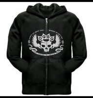 Rare Five Finger Death Punch Knuckle Skull Zip Up Hoodie NEW Authentic SMALL
