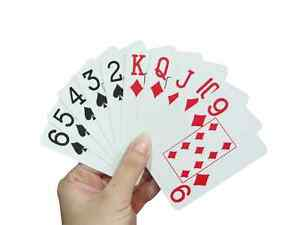 Large Print Playing Cards - Visually Impaired Sight Aids - Big Print Cards