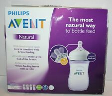 Philips Avent Natural Wide-Neck Baby Bottles Purple Edition 9oz 4pk *Open Box*