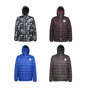 PULSE MENS WINTER WARM PADDED QUILTED INSULATED PUFFER COAT MACHINE WASHABLE