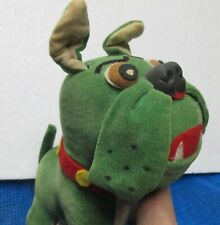 Vintage Dakin & Co Dream Pets Japan Stuffed Green Toy Bulldog SEMPER FIDELIS