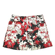 NIKE Men's Hawaiian Trunks Size 2XL XXL Red Aloha Floral Mesh Lined Swim Shorts