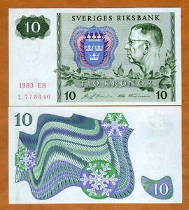 Sweden, 10 Kronor, 1979-1983, P-52d  aUNC