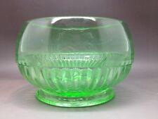 Small Green Pressed Glass Bowl - Glows Under UV