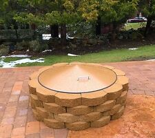 "Round Metal Fire Pit Campfire Ring Cover 37"" Diameter"