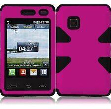 Dynamic Hybrid Tuff Hard Case for LG 840G - Pink/Black