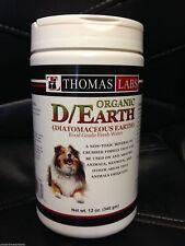 Thomas Labs Diatomaceous Earth Parasites Kills Fleas & Ticks Food Grade 12oz
