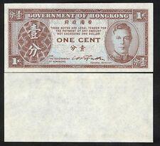 HONG KONG  1 Cent 1945 UNC P 321