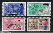 GERMANIA 4 FRANCOBOLLI PRO GIOVENTU PROFESSIONI JUGEND 1987 usato