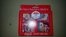 *Brand New Unopened* Coca Cola Christmas 1995 Collector Playing Cards in Tin