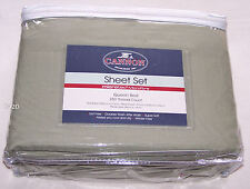 Cannon Olive 250 Thread Count Queen Bed Microfibre Fitted Sheet Set New