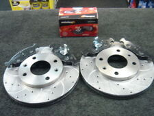 PEUGEOT 106 GTI RALLYE FRONT BRAKE DISCS & MINTEX PADS DRILLED AND GROOVED