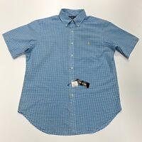 Ralph Lauren Men's Classic Fit Seersucker Checkered Shirt In Size L
