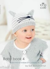 King Cole Baby Book 4 Stylish Knits for Babies & Children to 7 Years.