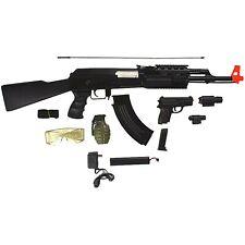 CYMA AK-47 ELECTRIC AEG FULL AUTO AIRSOFT RIFLE GUN w/ PISTOL COMBO 6mm BB BBs