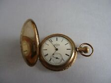 Watch with Fancy Engraved Case Antique Elgin National Watch Co. Pocket