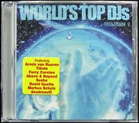 WORLD'S TOP DJ'S VOL. 1 2008 CD COMPILATION SASHA, DAVID GUETTA, SHARAM *SEALED*