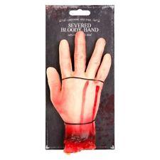 1X Halloween Spaventoso BLOODY reciso Tagliato Finto Festa a mano decorazione Prop Trick