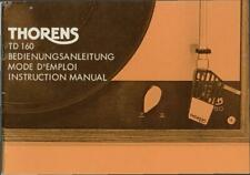Bedienungsanleitung-Operating Instructions für Thorens TD 160