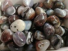 Polished Botswana Agate Tumblestone 20 - 30mm Reiki Chakra Healing Crystals