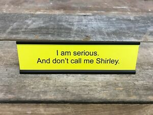 NEED A BIGGER BOAT JAWS Desk SignName Plate Funny Coworker Friend Gag Gift