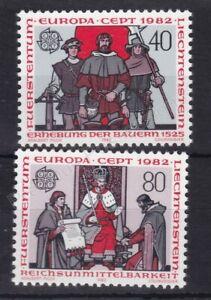 EUROPA MNH STAMP SET 1982 LIECHTENSTEIN HISTORICAL EVENTS SG 786-787