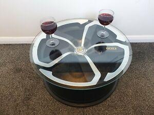 "Automotive Car Coffee Table Dotz Hanzo 19"" Laser Cut Alloy Wheel 21.5"" Surface"
