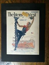 The Literary Digest Aug 3, 1918. Cover only/matted. Gerri A. Beneker artist.