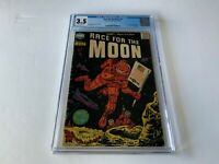 RACE FOR THE MOON 3 CGC 3.5 ORIGIN 1ST THREE ROCKETEERS JACK KIRBY HARVEY COMIC