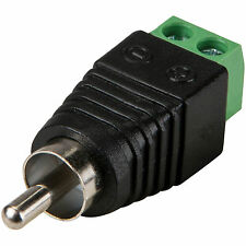 RCA Male to Screw Terminal Connector