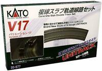 KATO N gauge V17 double-track slab track line set 20-877 model railroad rail set