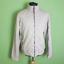 Easy Premium Mens Bomber Jacket Size Large Beige Cotton Full Zip