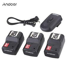 Andoer 16 Channel Wireless Remote Flash Trigger Set Transmitter + Receivers W2S6