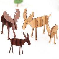 Creative Christmas Wood Elk Deer Ornaments Xmas Tree Hanging Party Decoration