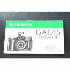 Fujifilm GA 645 Professional Bedienungsanleitung / Anleitung EN - DE - FR - ES
