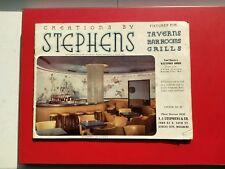 FAB + UNUSUAL+VTG✴️EQUIPMENT CATALOG✴️ STEPHENS TAVERNS BARROOMS AND GRILLS