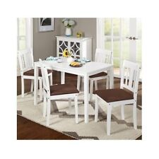 5 Piece Dinette Dining Set White Table Chairs Kitchen Furniture Wood Room