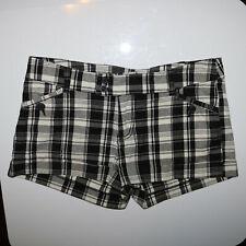 Xhilaration Black and White Plaid Schoolgirl Shorts Size 9 - Waist 34 Length 10
