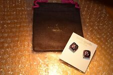 Authentic KATE SPADE Square Multi Glitter Stud Earrings With KS Jewelry Bag- NWT