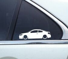 2X Lowered low car outline stickers - for Scion TC ( ANT10. 2005-2010 )