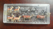 Vintage HO Scale Merten Deer and Other Animal Figures in Box 1003