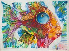 Aceite De Pescado/Original sobre lienzo estirada por Sergej hahonin/30 X 40 Cm