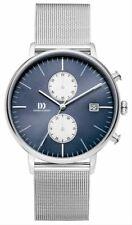 Danish Design Mens Tidlos Koltur Chrono Watch - Silver/Blue