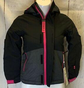 BNWT O'Neill Girls Coral Snow Jacket, Colour Black, Ski Snowboarding, RRP £119