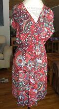 CAbi Cap Sleeve V-wrap Style #862 Knee Length Dress Women's Size Small