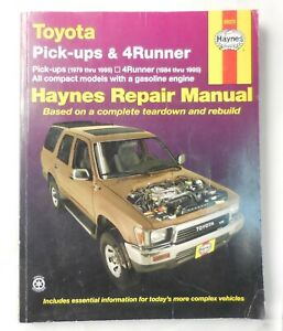 Haynes Repair Manual Toyota Pick-ups 1979-1995 & 4Runner 1984-95  Manual # 92075